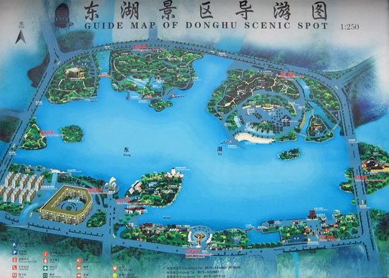 新浪旅游配图:东湖景区导游图