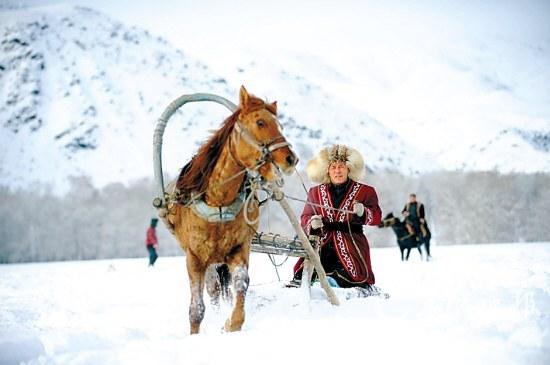 阿勒泰市拉斯特乡的哈萨克族牧民