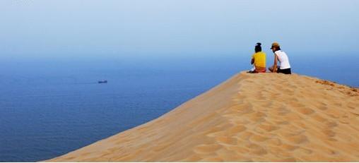 """位于""""中国最美八大海岸""""之一的河北昌黎黄金海岸南部"""