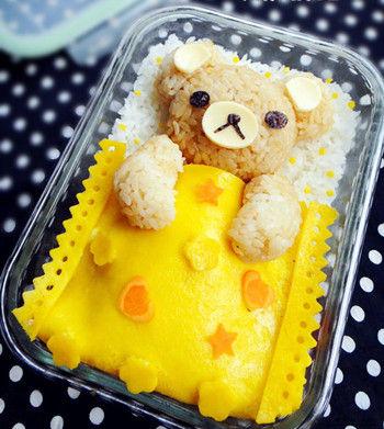上班族的漂亮便當晚安小熊熊 輕鬆熊咖喱飯_美食 ...