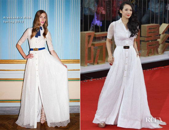 飘逸的及地白色衬衫裙