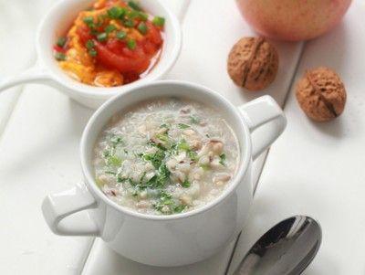 营养早餐搭配推荐 十分钟香菇青菜肉末稀饭_美