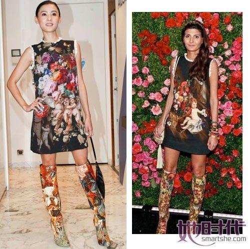 张柏芝Golce&Gabbana2012秋冬系列