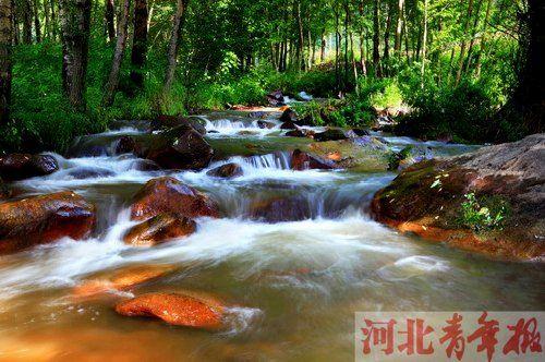 在辽河源头,并不是一条大河,而是一道道溪流 摄/宋占勇