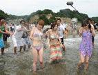 福岛核电站海水浴场开放