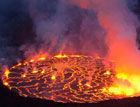 刚果火山边缘震撼场景