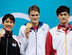 孙杨和朴泰桓并列银牌