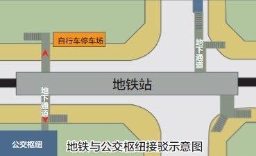 石家庄地铁换乘指南 出入口附近设自行车停车场图片