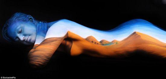 画家用人体绘画