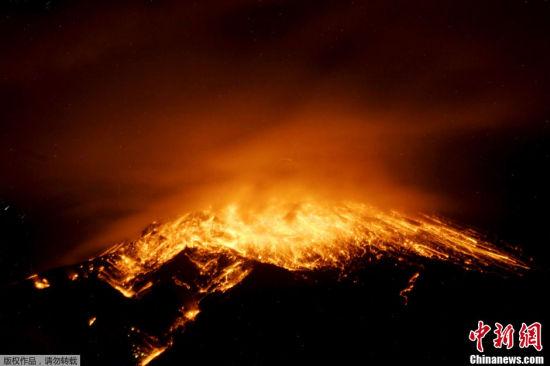厄瓜多尔通古拉瓦火山剧烈喷发(图)
