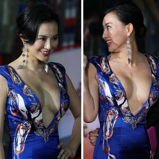 二三线女星袒胸露乳上位 不拼演技拼豪乳 新浪