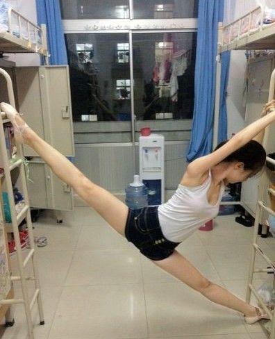 美女勤练体操,求大神P出意境
