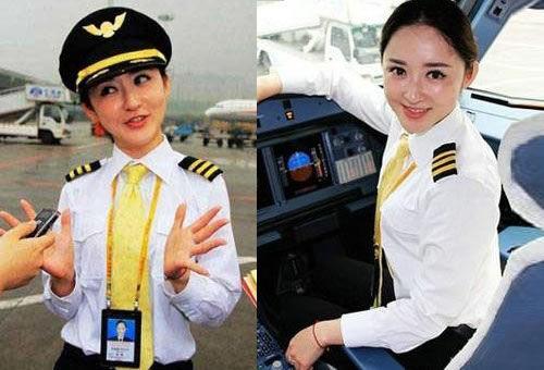 西部首位女飞行员张楠