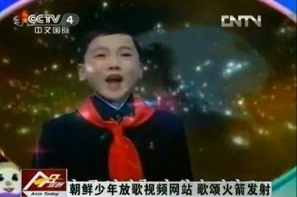 朝鲜少年演唱我们的卫星将布满苍穹获封表情帝(图)