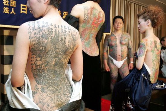 日本纹身女越来越开放图片