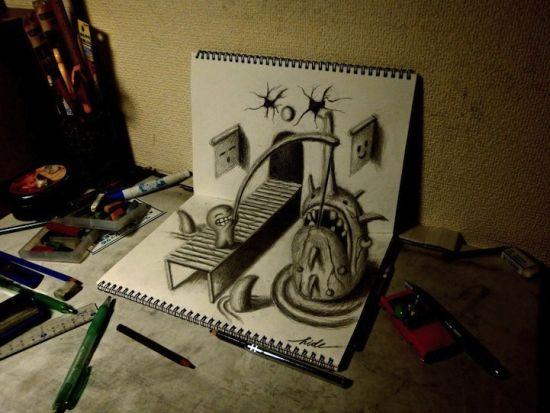 插画中的创意3D神作