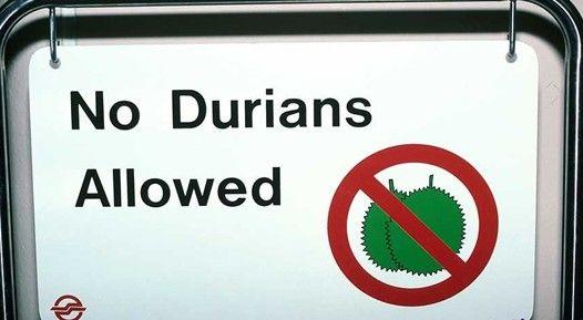 公共场所禁止吃榴莲