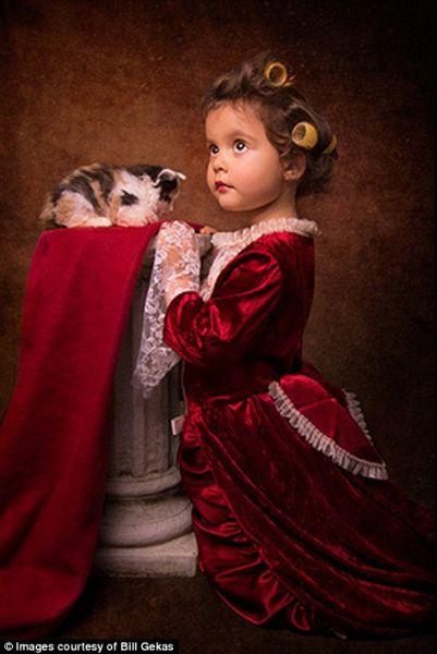摄影师爸爸为女儿拍照重现巴洛克时期经典画作
