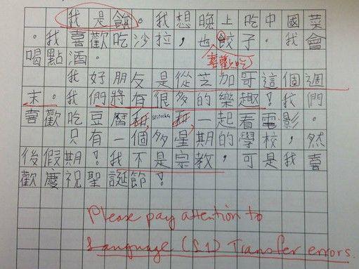 美国本科生中文周记选 手写繁体字 7