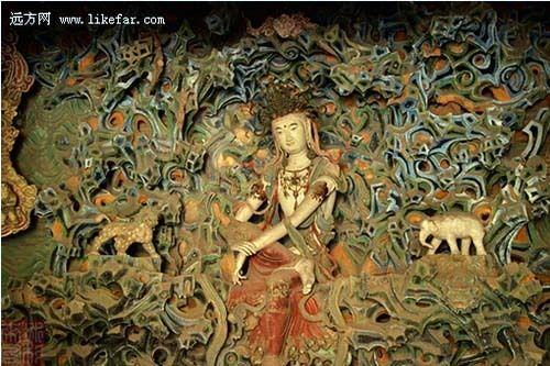 唐代木雕狮子图片
