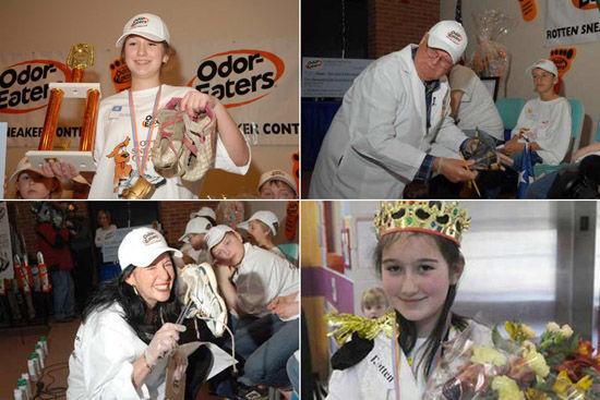 全美臭鞋大赛 11岁女孩勇夺冠军