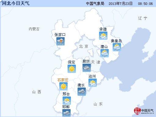 河北省十天内天气预报