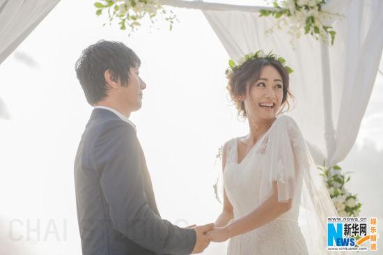 鄭鈞劉蕓馬爾代夫舉行唯美婚禮秦嵐當伴娘