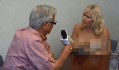 女主播裸胸访问市长