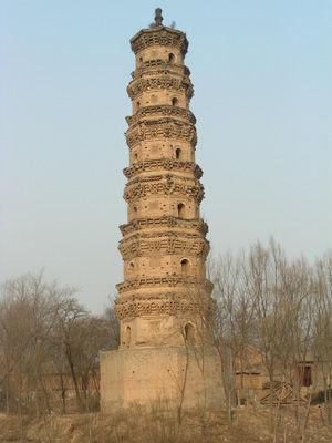 寺塔位于故城县饶阳店村东.饶阳店原有一座很大的寺院,叫庆林寺,图片