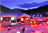 中国雪乡夜色