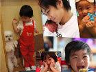 Kimi成长全纪录和妈妈啃饼干跟爸爸学车