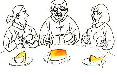 吃饭简笔画-河北邱县的 漫画经 倡勤政廉政 正乡俗村风