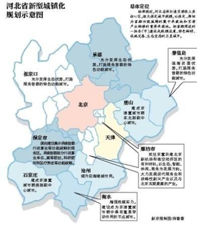 河北省新型城镇化规划示意图