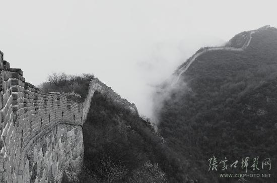 迷雾下的张家口长城