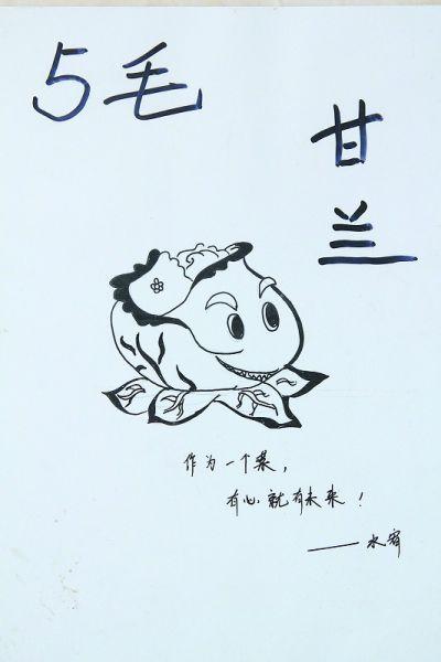 王俞钦利用课余时间,创作黑白蔬菜装饰画