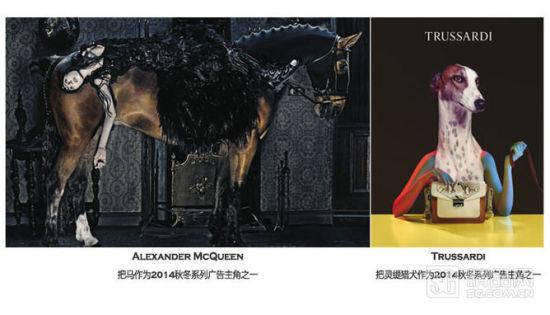 当然不是每个品牌都需走艺术或群模入镜风格,品牌每一季都有自己的定位,某些时候,一个有话题的当红超模,轻松随意的肢体演绎,只要在恰当的环境中也能拍出符合当季风格的广告大片。Mulberry 秋冬,摄影师Tim Walker 带着超模Cara Delevingne前往苏格兰高地进行拍摄,那是一个没有手机信号,方圆百里无一物,除了当地的猎场看护狗和一群羊,摄影师和模特就地取材,用一只小羔羊与Cara 搭配,而这正符合Mulberry秋冬季的菱形花纹,苏格兰针织品、千鸟格、雨靴、系带皮鞋等独具英式风情的时装风