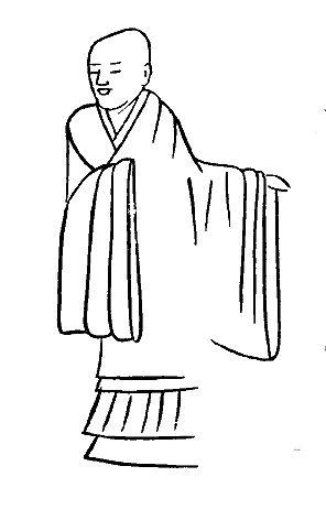 古代道士敲锣打鼓的简笔画
