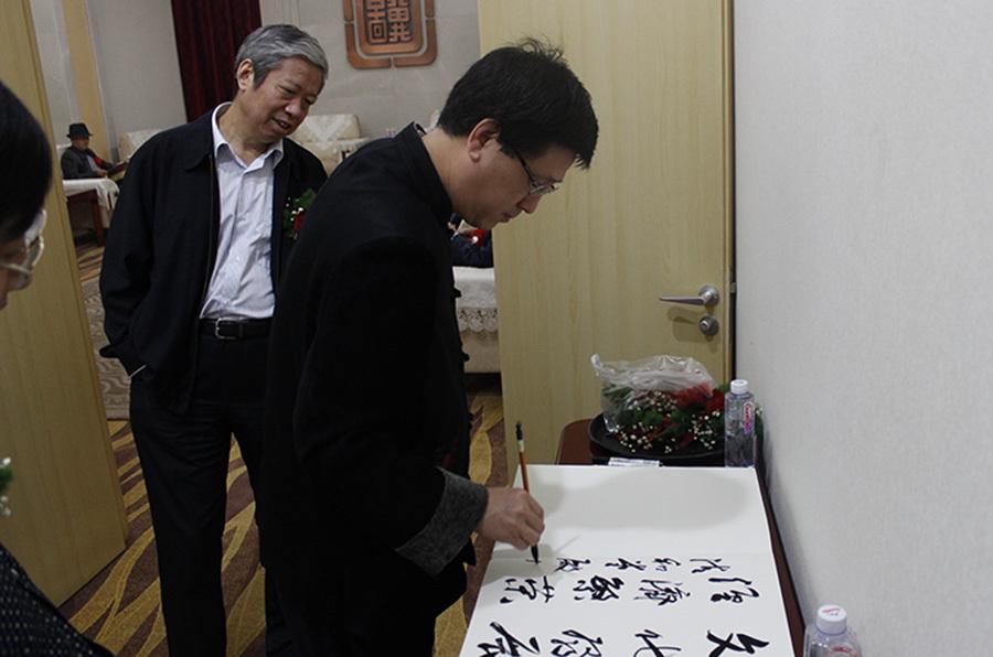河北省书法家协会副主席、河北省书协省直分会执行主席傅殿川签到处留墨