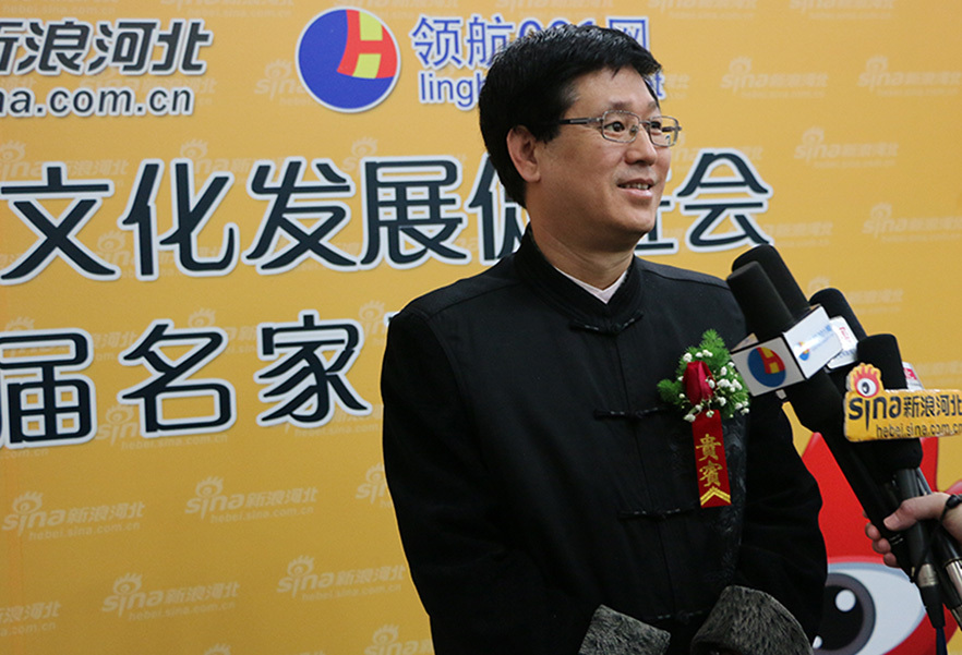 河北省书法家协会副主席、河北省书协省直分会执行主席傅殿川接受采访