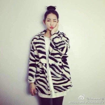 斑马纹大衣