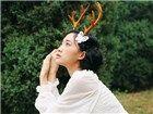 """森林中的""""麋鹿""""少女纯白演绎绿野仙踪"""