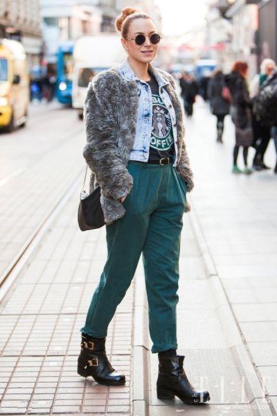 牛仔夹克+厚外套