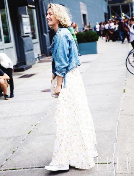 牛仔夹克+印花裙装2