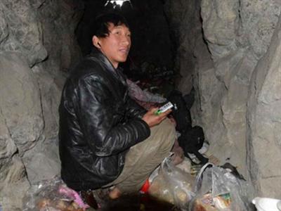河北男子为省房租住山洞 月入3000全寄回家