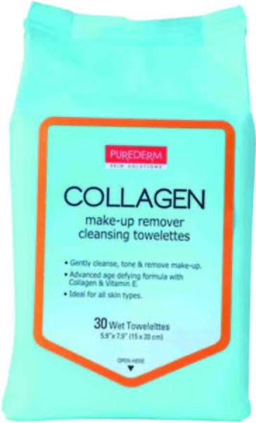 璞静馨胶原蛋白清洁卸妆湿巾