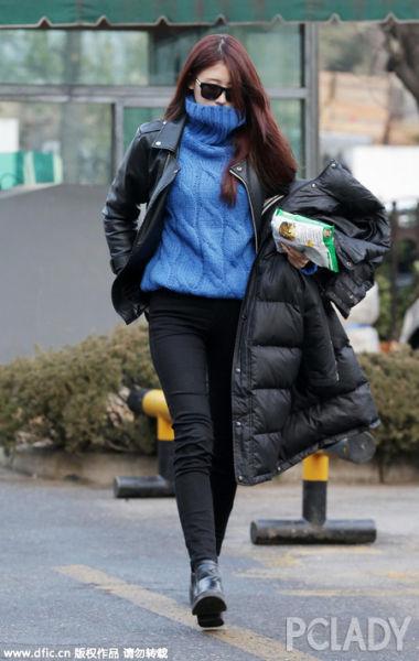 韩国妹子爱穿毛衣