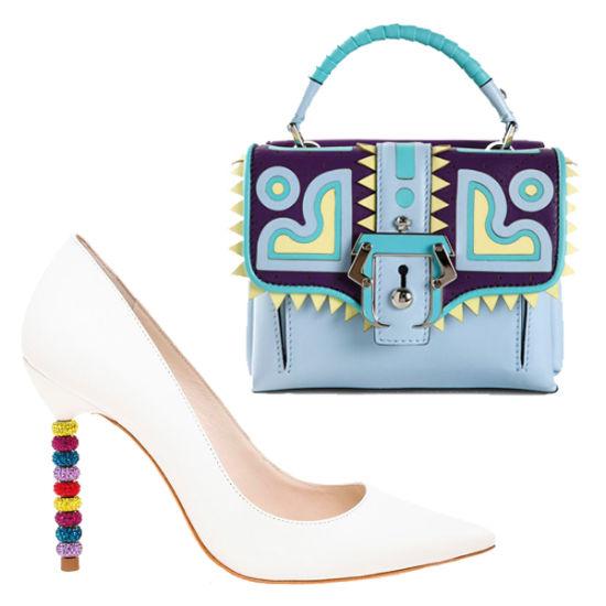 """迷你Paula Cademartori小拎包和""""别有用心""""的美鞋。"""