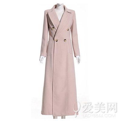 女式西装领长款风衣