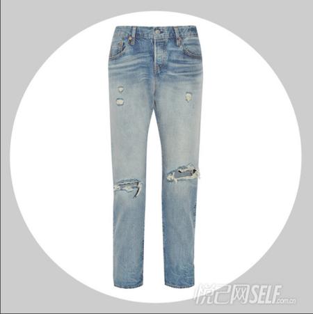 时尚新宠破旧牛仔裤