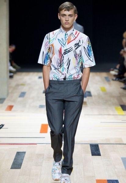 衬衫:Dior Homme 2015春夏男装